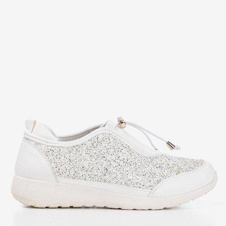 Біле спортивне взуття Likera з блиском - Взуття