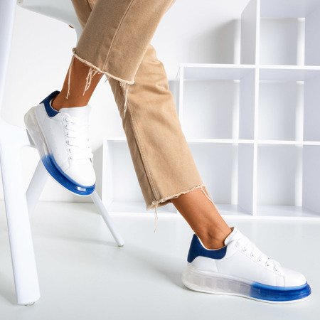 Біло-сині кросівки на грубій підошві Judite - Взуття