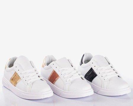Білі жіночі спортивні кросівки із золотими вставками Hypnos - Взуття 1