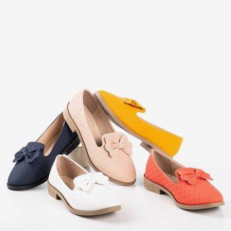 Білі мокасини з бантиком Флавіса - Взуття