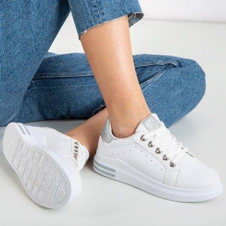 Білі спортивні кросівки із срібними вставками Solesca - Взуття 1