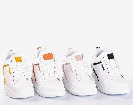 Білі та жовті жіночі кросівки на внутрішньому танкетці Marcja - Взуття