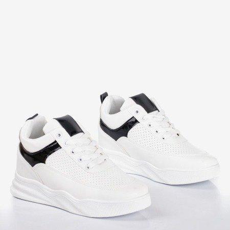 Білі та чорні кросівки на внутрішньому танкетці Fassia - Взуття