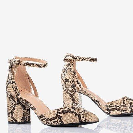Виріжте насоси на посту a'la snakeskin Party Time - Взуття