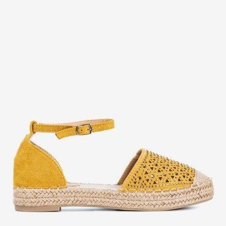 Дамські жовті еспадрільї з ажурним декором Clia - Взуття