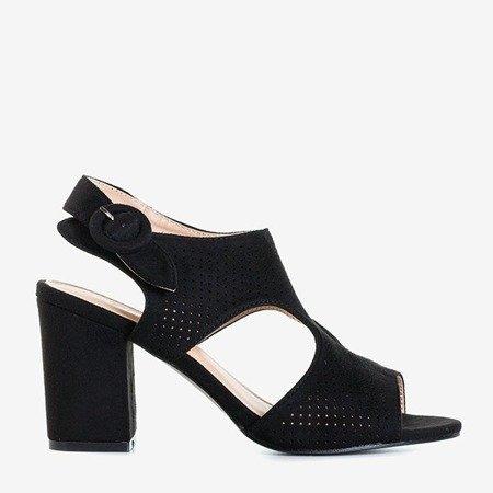 Дамські чорні ажурні босоніжки на пості Cytuss - Взуття