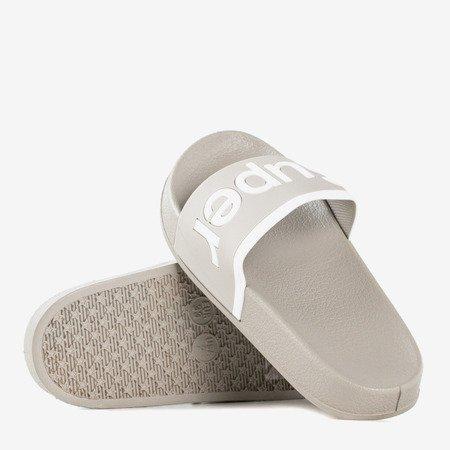 Дитячі сірі тапочки із написом Super - Взуття