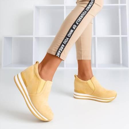 Жовте взуття на прихованому клині Kassiole - Взуття 1