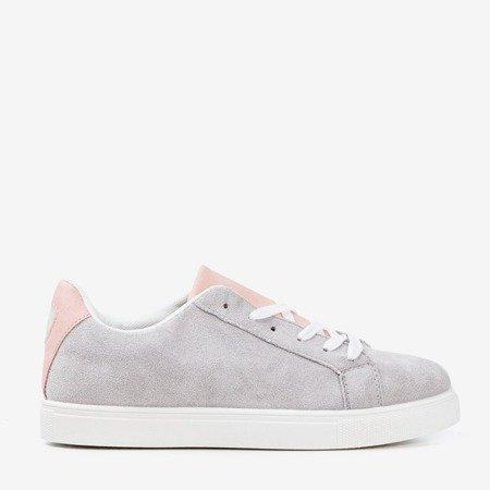 Жіночі кросівки світло-сірого кольору з рожевою вставкою Barielle - Взуття 1