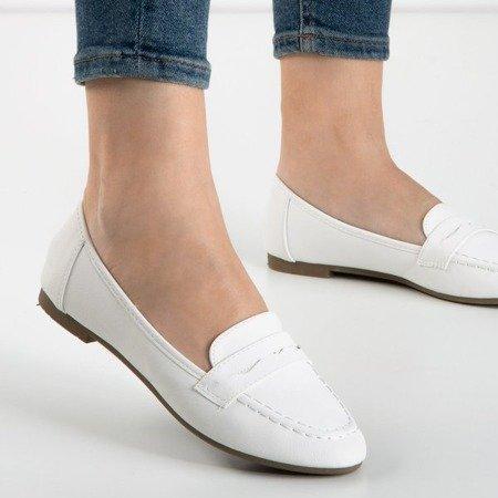 Жіночі лофери з білого Розелле - Взуття 1