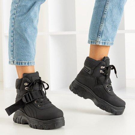 Жіночі спортивні чоботи для снігу в чорному лезі - Взуття