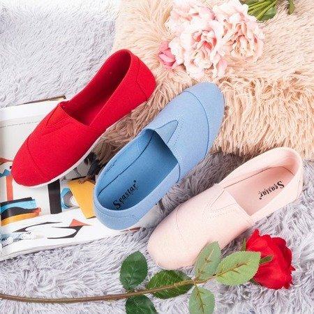 Жіночі червоні мокасини типу сліпони Slavarina - Взуття