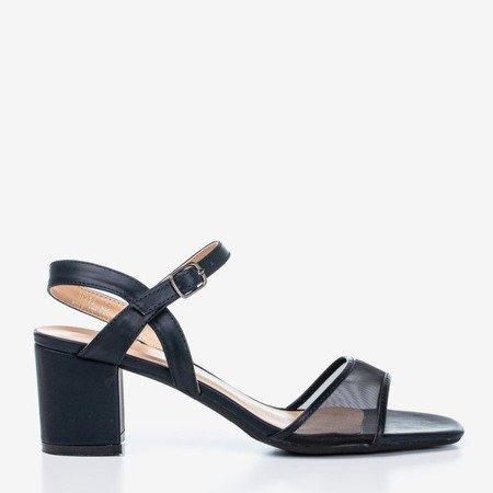 Жіночі чорні босоніжки на невисокій стійці Vivianne - Взуття
