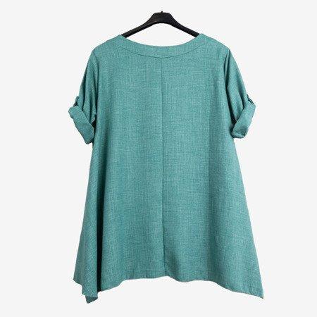 Зелена і синя жіноча туніка з написами - Блузки 1