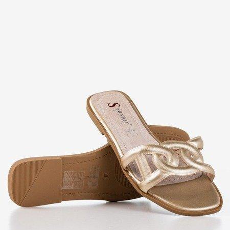 Золоті жіночі тапочки Вірменська - Взуття 1