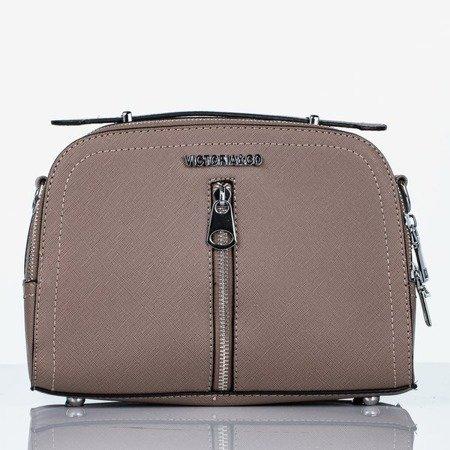 Коричнева невелика наплічна сумка - Сумочки