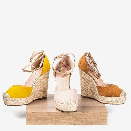 Коричневі еспадрільї на високому клині Sablac - Взуття