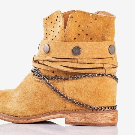 Коричневі ковбойські черевики на критому клині Salemi - Взуття 1