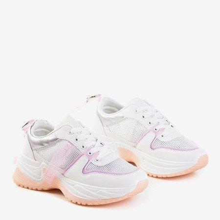 Кросівки з білого та пудрового кольору Evanile - Взуття
