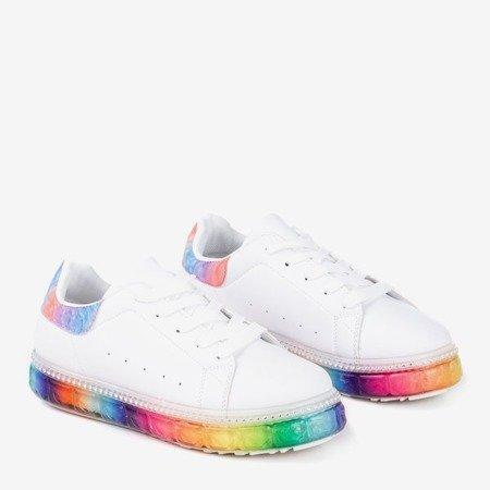 Кросівки з різнокольоровими платформами з кубічним цирконієм Mauria - Взуття 1