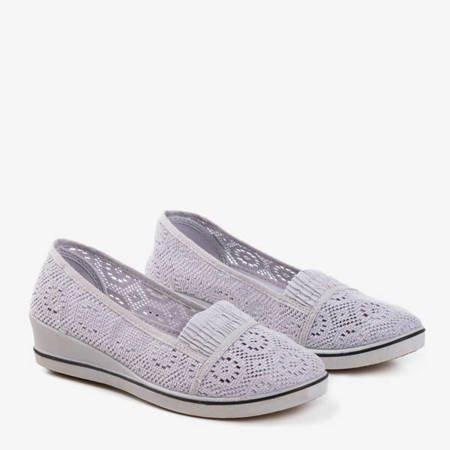 Кросівки сірі Faser з низьким клином - взуття
