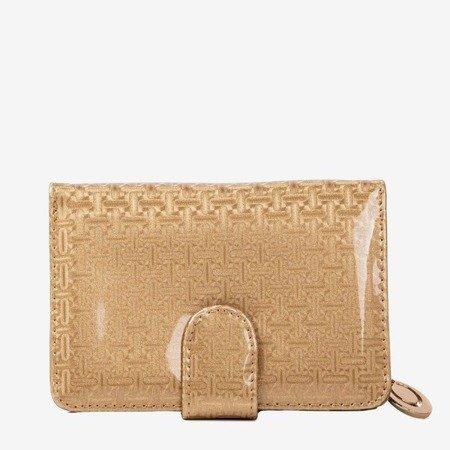 Лакований маленький жіночий гаманець у золоті - Гаманець