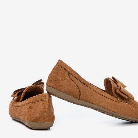 Легкі коричневі мокасини для жінок з бантом Ursula - Взуття 1