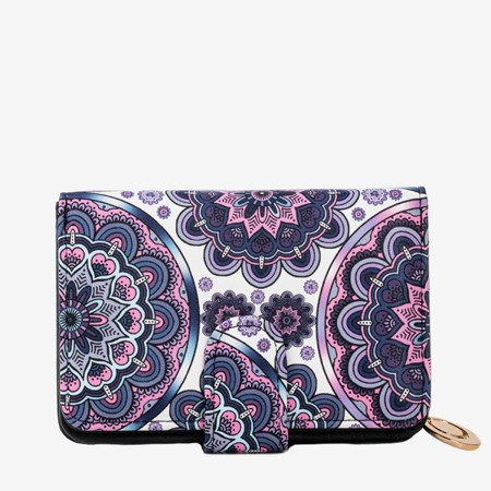 Маленький жіночий гаманець з малюнком у фіолетовому кольорі - Гаманець