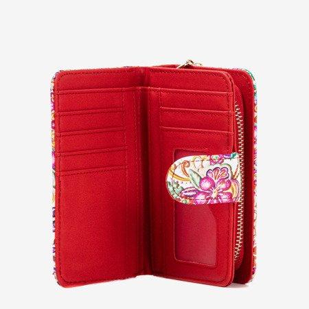 Маленький червоний гаманець з малюнком - Гаманець