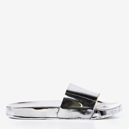 Металеві шльопанці Mertisa silver - Взуття 1