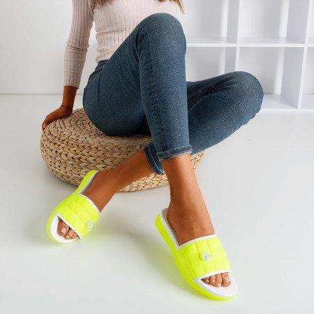 Неонові жовті стьобані тапочки Pixa - Взуття 1