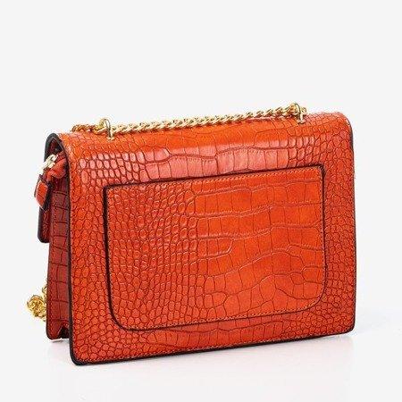 Помаранчева маленька жіноча сумочка з тисненням для тварин - Сумки 1
