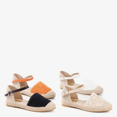 Помаранчеві босоніжки еспадрілли з ажурними верхами Азії - Взуття
