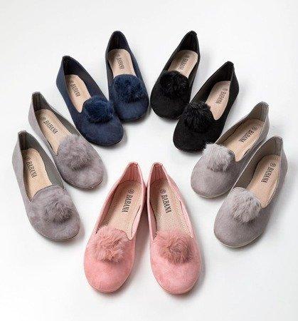 Рожеві балетки з помпоном Культи - Взуття