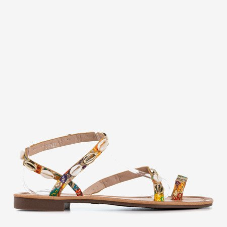 Різнокольорові жіночі босоніжки з черепашками Melreu - Взуття