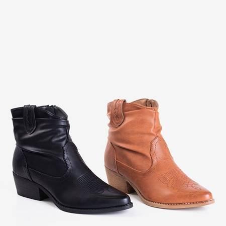 Світло-коричневі жіночі ковбойські черевики з прикрасою Adelia - Взуття