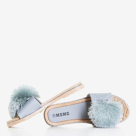 Світло-сірі шльопанці з пензликом Talvika - Взуття 1