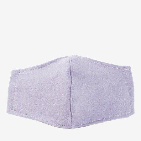 Світло-фіолетова тришарова маска для обличчя - 1