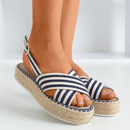 Сині босоніжки на платформі Lauretta - Взуття 1