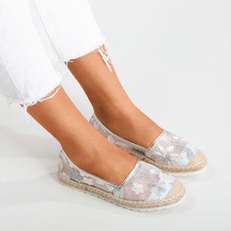 Срібні еспадрилі з прозорою верхньою частиною Summes - Взуття 1