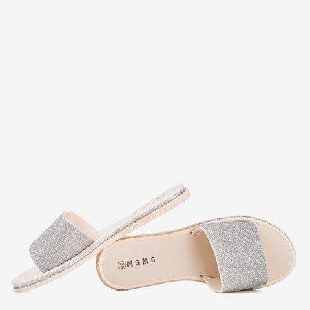 Срібні жіночі шльопанці з кубичним цирконієм Rocca - Взуття 1