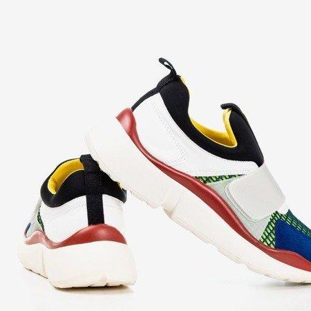 Сіре спортивне взуття з кольоровими вставками Мендора - Взуття