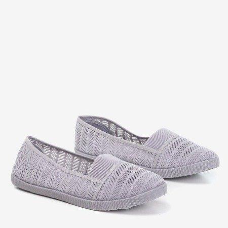 Сірий жіночий ажурний сліп на Heyan - Взуття