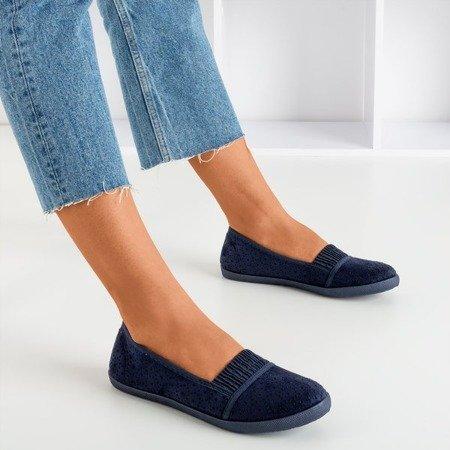Темно-синій жіночий ажурний накладки - на Trassca - Взуття 1