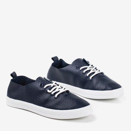 Темно-сині жіночі ажурні кросівки Ahama - Взуття 1