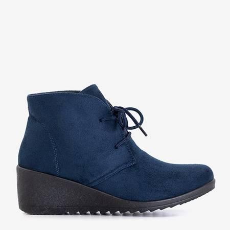 Темно-сині жіночі танкетки Satomi - Взуття