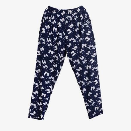 Темно-сині з візерунками жіночі аладінові штани - Одяг 1