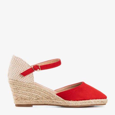 Червоні еспадрилі на клині Літній поцілунок - Взуття 1
