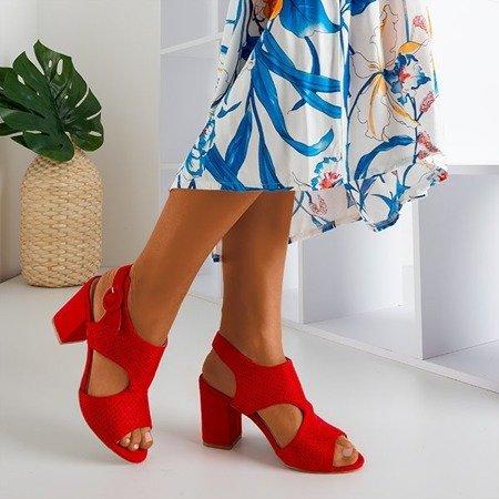 Червоні жіночі ажурні босоніжки на пошті Cytuss- Взуття 1