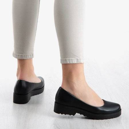 Чорна балерина на низьких підборах Lysabeth - Взуття 1